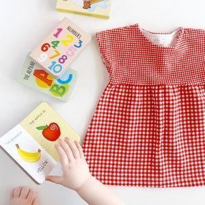 Zara Baby Red Gingham Check Dress Size 6-9 M
